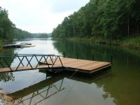 10'x20' Platform Dock w/Ironwood Wrap and Painted Walkway