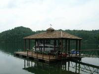 26'x32' Slip Dock w/Hipped Roof and Cedar Shakes